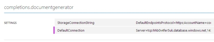 In Azure you can update the configuration settings.